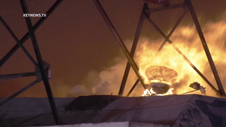 Firefighters Battle Large Commercial Structure Fire in Boyle Heights