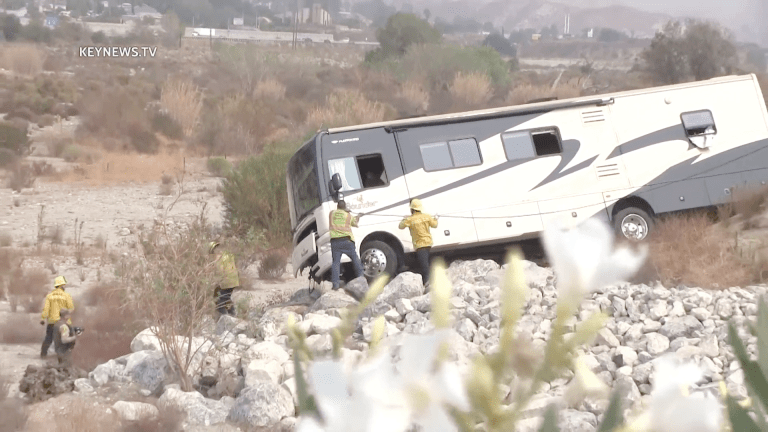 1 Fatality Reported After Recreational Vehicle Lands in Santa Clara Riverbed