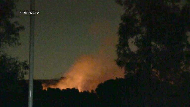 Hansen Dam Brush Fire