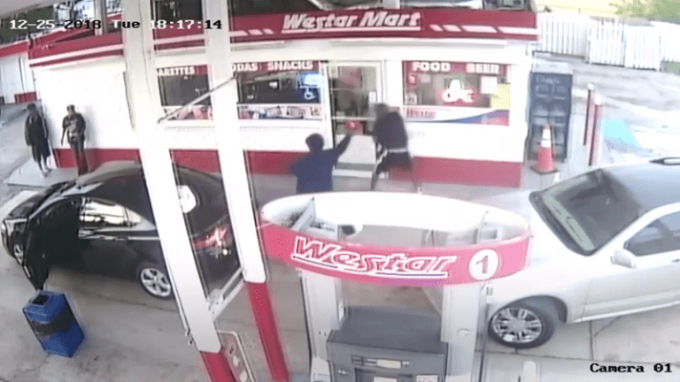 MAN KILLED AT GAS STATION ON CHRISTMAS DAY