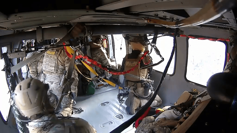VIDEO: HELICOPTER CREW SAVES AND AIRLIFTS UNDOCUMENTED IMMIGRANTS
