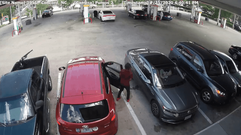 VIDEO: WOMAN GETS CARJACKED AT CONCORD MILLS MALL AREA GAS STATION