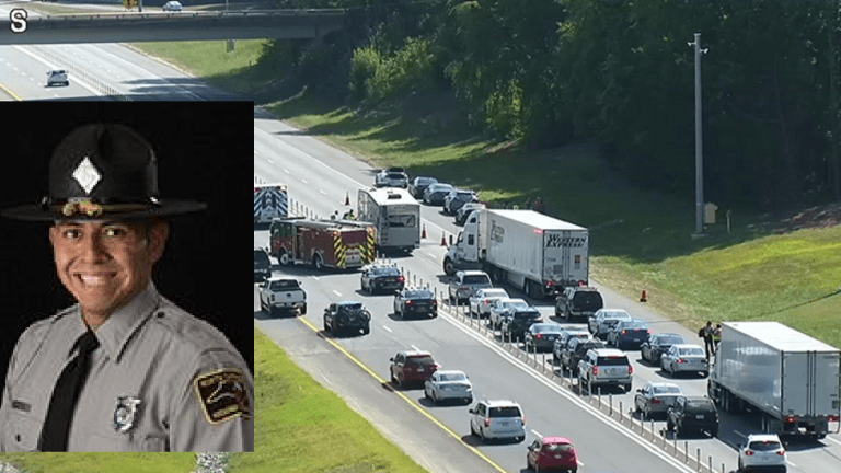 STATE TROOPER HIT BY CAR ON I-485, HAS SERIOUS INJURIES