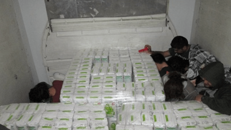 37 UNDOCUMENTED IMMIGRANTS FOUND HIDING IN TRACTOR TRAILER HAULING FLOUR