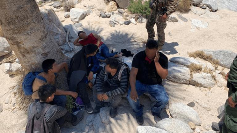 BORDER PATROL RESCUES SEVERAL ILLEGAL IMMIGRANTS IN MOUNTAINOUS TERRAIN
