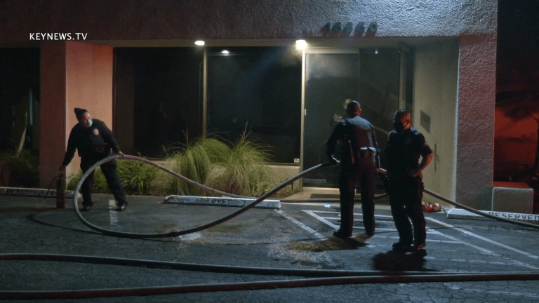 Robbery Suspect in Custody After Office Building Fire in North Hills