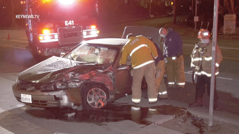 Two-Vehicle Collision on Hollywood Boulevard