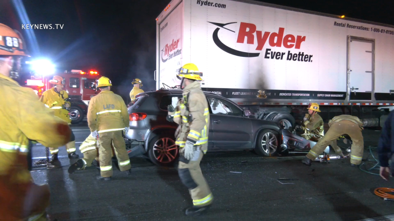 Driver Killed in Collision with Box Truck on 101 Freeway at Van Nuys