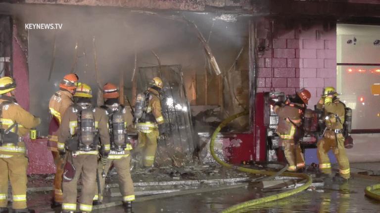 El Monte Strip Mall Restaurant Fire