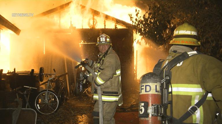 Highland Park Garage Fire Collapse *SOT