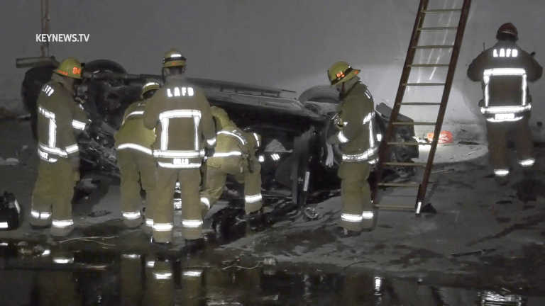Vehicle Crashes into Riverbed Killing Male Driver (GRAPHIC)