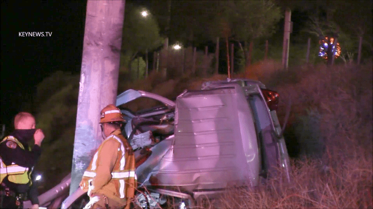 Fatal Collision Southbound 14 Freeway at Sand Canyon Road