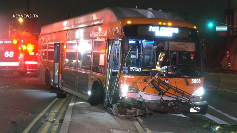 Mid-City Metrolink Bus Traffic Collision