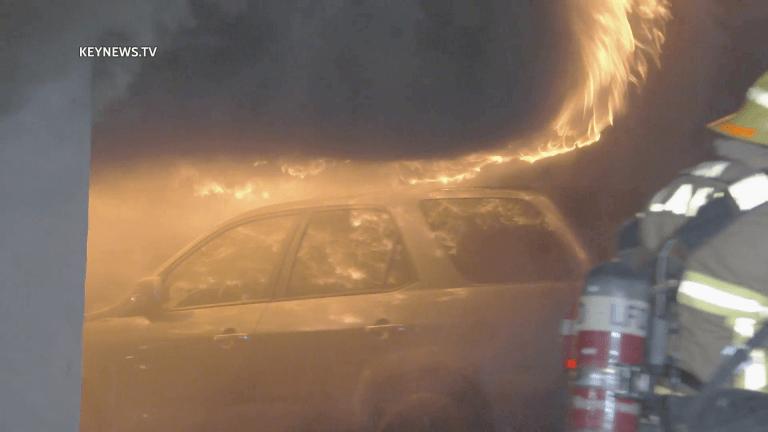 Firefighters Battled Intense Westlake Carport Fire
