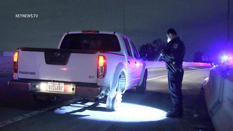 Slow Speed Vehicle Pursuit Terminates in Boyle Heights