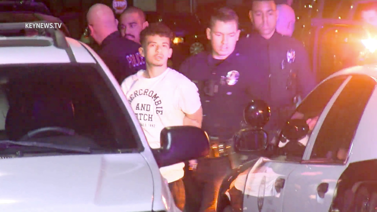 Pursuit with Reported Shots Fired Ends in Crash, Suspect in Custody