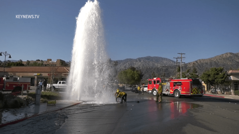 Sheared Hydrant Gushed Water After Duarte Vehicle Collision