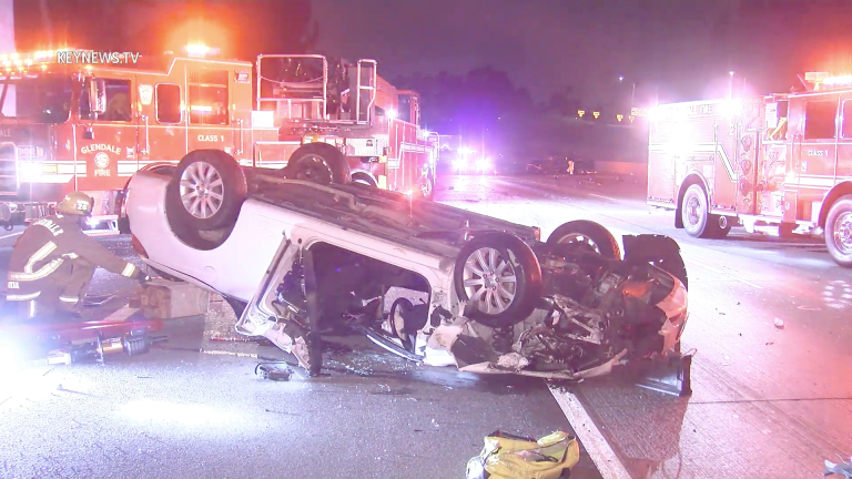 Hit-and-Run Rollover Injury Collision on the 134 Freeway (GRAPHIC)