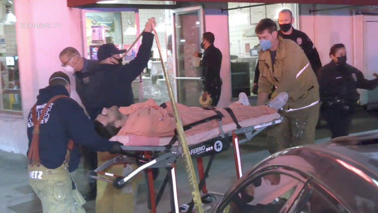 Van Nuys Stabbing Victim Transported to Hospital (Graphic)
