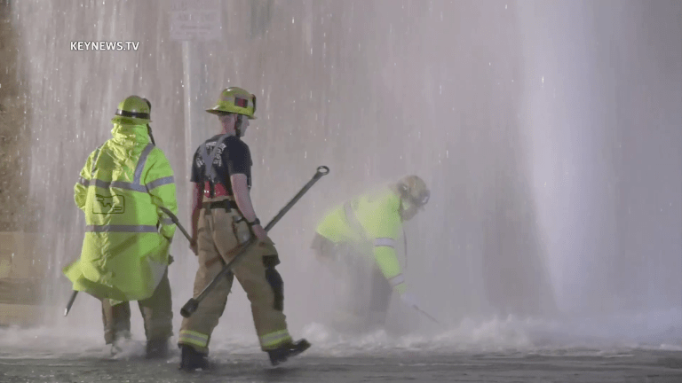 Porter Ranch Vehicle Collision Shears Hydrant Creating Challenging Geyser