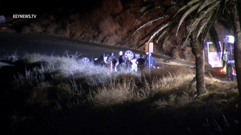 San Pedro Vehicle off Cliff, Driver Deceased