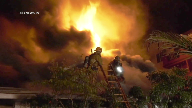 Early Morning Blazing House Fire in Florence