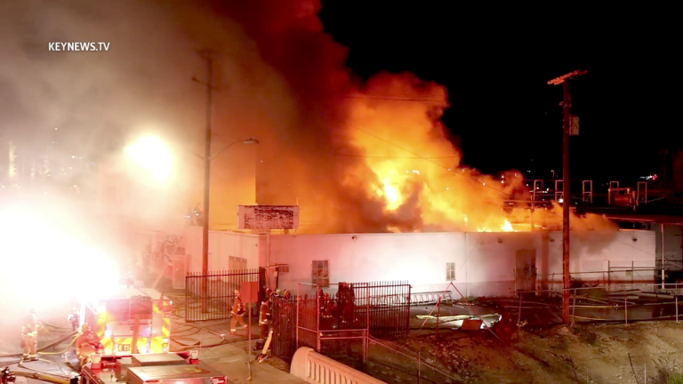 Burbank 3-Alarm Abandoned Commercial Building Fire