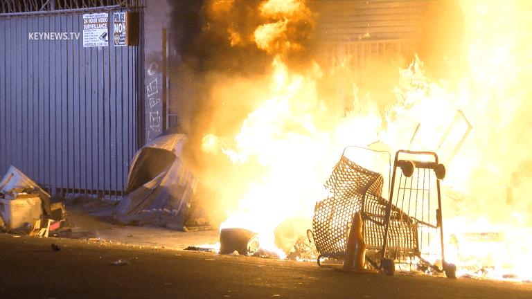 Central-Alameda Homeless Encampment Fire