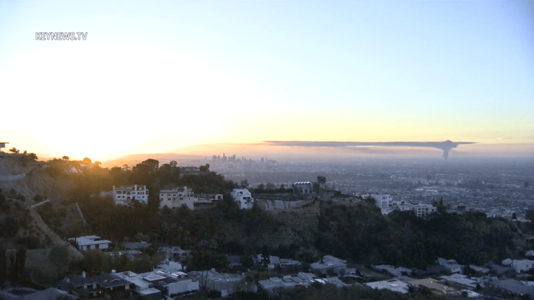 Compton Fire Time-Lapse Looking South From the Hollywood Hills