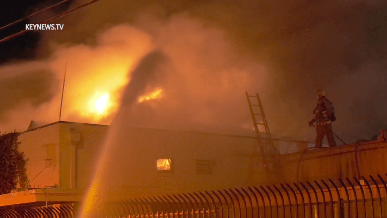 Flames Ripped Through a Warehouse in East Los Angeles