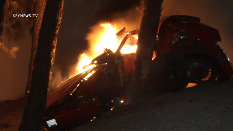 CHP Officer Injured in Pursuit that Ended in Fatal Fiery Crash off 405 Freeway