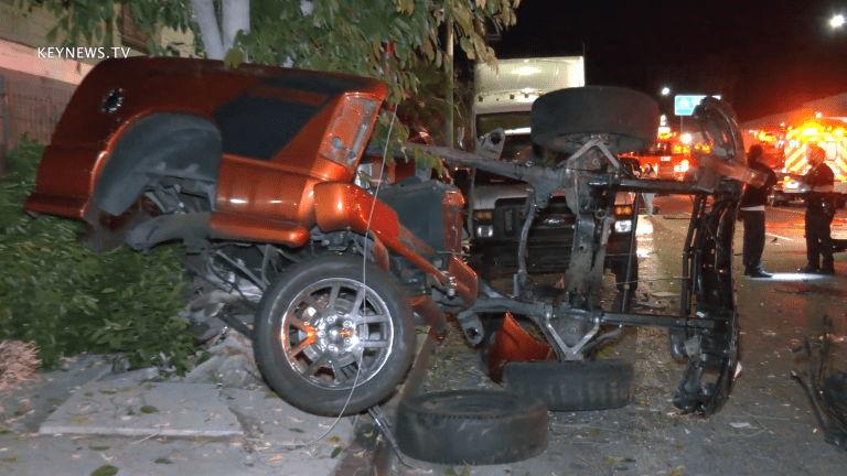 Accident Victim Self-Extricated After Collision, Truck Split in Half