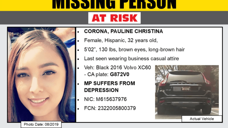 Missing At-Risk Female Last Seen via Cell Phone Call with Family
