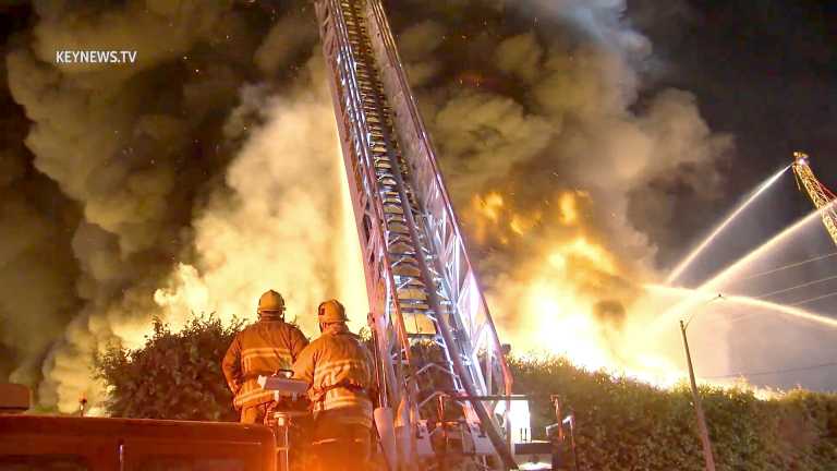 Firefighters Battled Major Emergency Structure Fire in Central-Alameda