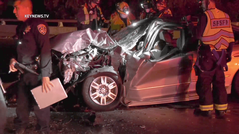 2 Critical Patients Extricated, 1 Crash Victim Fled I-605 2-Vehicle Collision