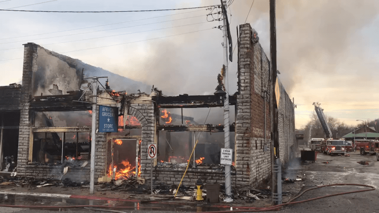 Massive Commercial Fire with Injures Including One Firefighter
