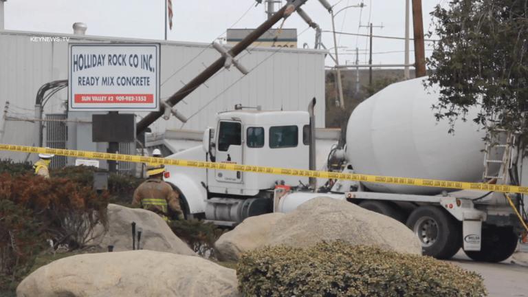 Collision Involving Trucks into Sun Valley Concrete Business