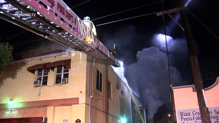 Residents Evacuate Apartment Building Fire in Florence