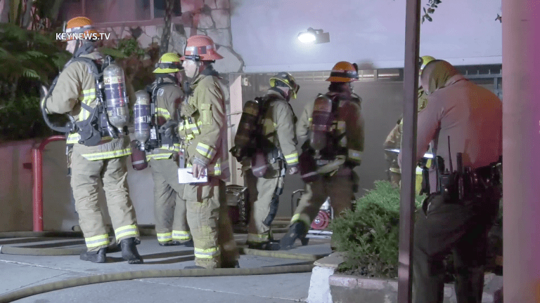 Vehicle Erupts in Flames in West Hollywood Apartment Garage