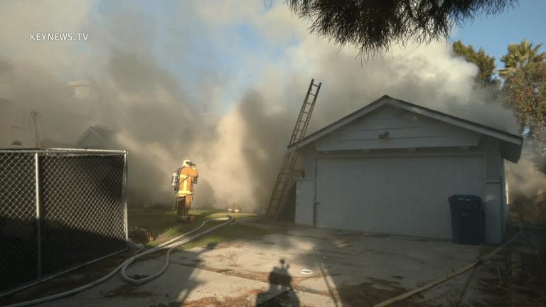 Structure Fire on Radford in Valley Village