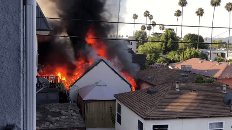 Garage Fire Threatened Apartment Complex and Home in Glendale