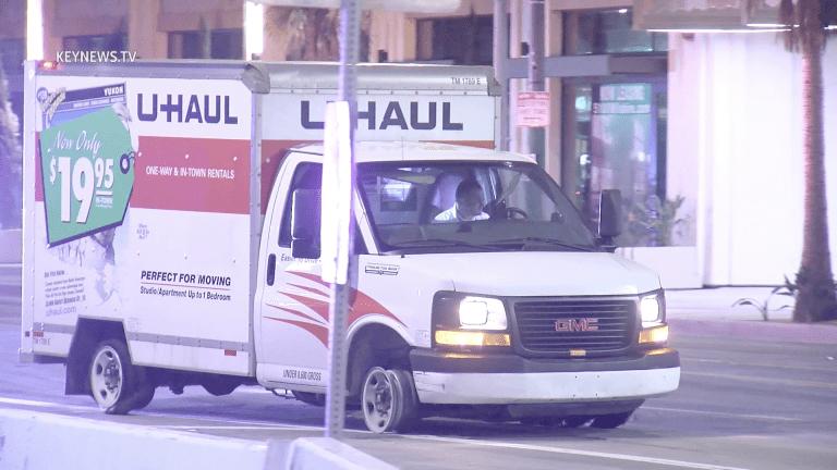 Man in Stolen U-Haul Leads Police on a Slow Speed Pursuit