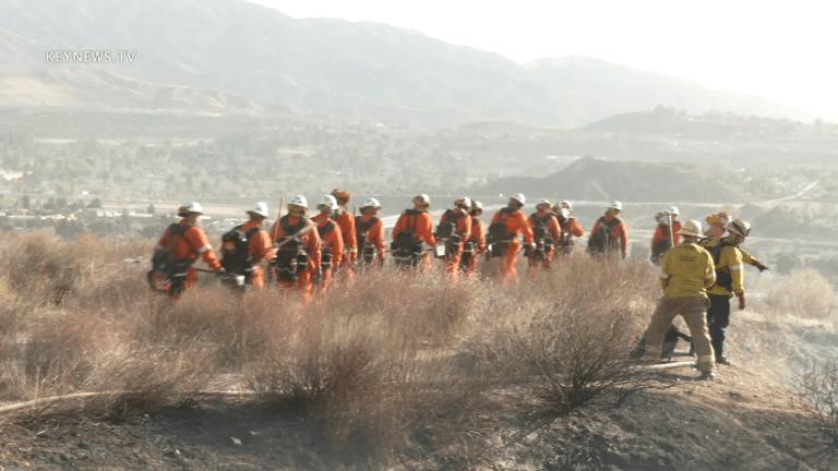 Whites Fire in Santa Clarita Quickly Contained