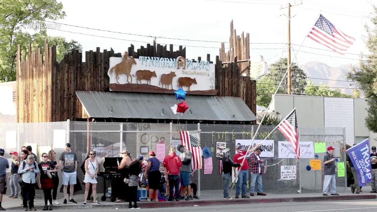 Burbank Tinhorn Flats Protest Following Fence Installation