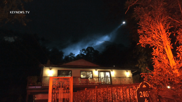 Hollywood Hills Brush Fire at Houdini Estate