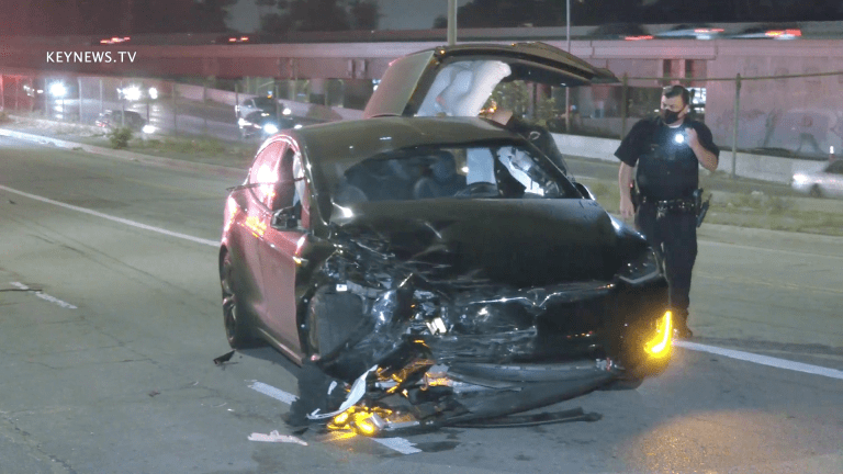 Tesla Model X Totaled in Injury Traffic Collision in Hollywood, Driver Flees