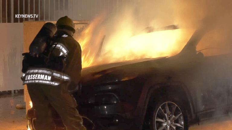 South-Central LA Vehicle Fire
