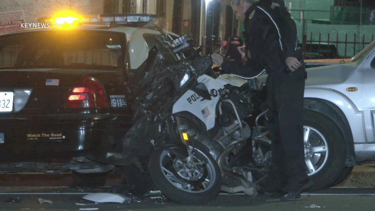 Motor Officer Hit in Mid City Traffic Collision