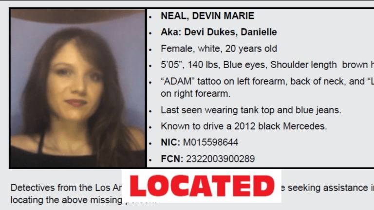 Sheriff's Department Asking Public's Help Locating At-Risk Female