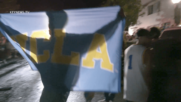 UCLA Students Wildly Celebrate Bruins Making Final 4 in March Madness